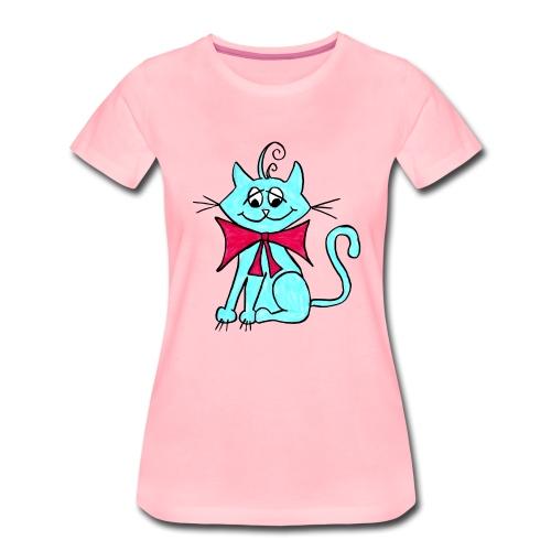 Katze blau - Frauen Premium T-Shirt