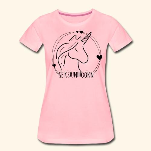 Seksiuniiicorn SCHWARZ - Frauen Premium T-Shirt