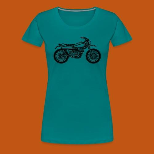 Motocross Enduro Motorrad 01_schwarz - Frauen Premium T-Shirt