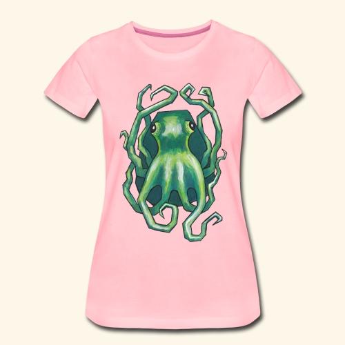 Grön bläckfisk - Premium-T-shirt dam
