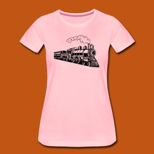 Lokomotive / Locomotive 02_schwarz - Frauen Premium T-Shirt