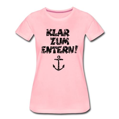 Klar zum Entern Segel Segeln (Vintage/Schwarz) - Frauen Premium T-Shirt