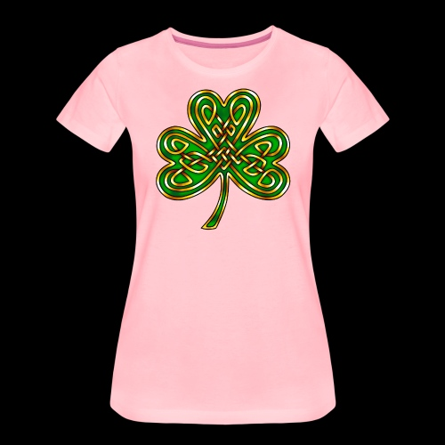 Celtic Knotwork Shamrock - Women's Premium T-Shirt