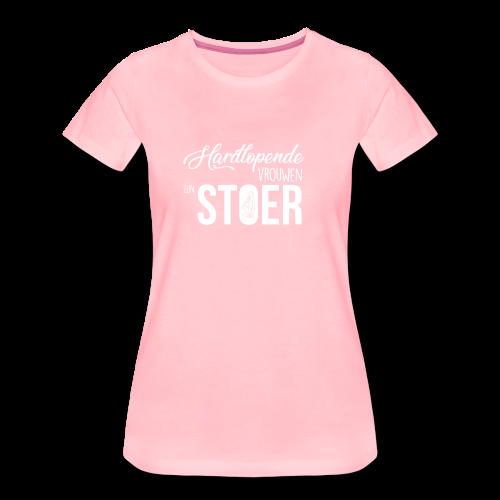 hardlopende vrouwen zijn stoer! - Vrouwen Premium T-shirt