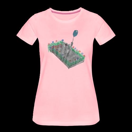 robotandflowers - Frauen Premium T-Shirt
