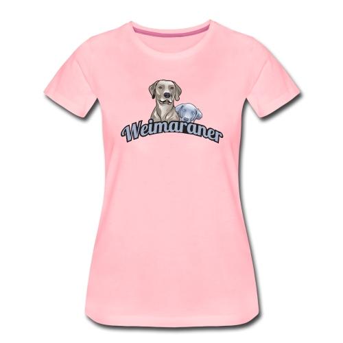 weimaranerlogo01 - Frauen Premium T-Shirt
