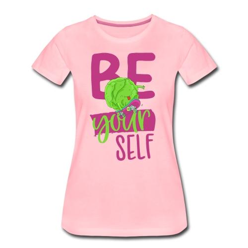 Be yourself happy Veggie Kohlkopf - Vegan Skater - Frauen Premium T-Shirt