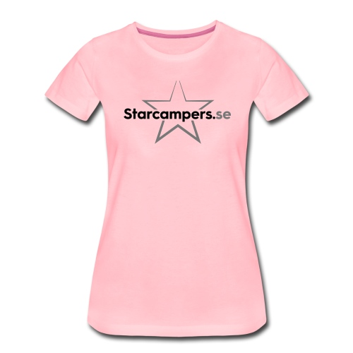 Starcampers centrerad logo - Premium-T-shirt dam