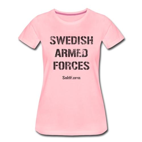 Swedish Armed Forces + SWE FLAG - Premium-T-shirt dam