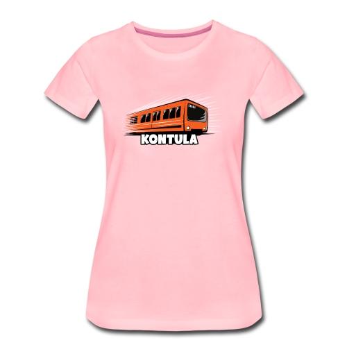 06-KONTULA HELSINKI tekstiili- ja lahjatuotteet - Naisten premium t-paita