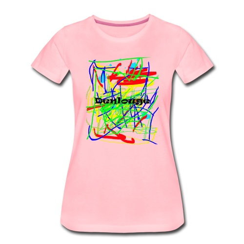 Denlouge Abstract - Frauen Premium T-Shirt