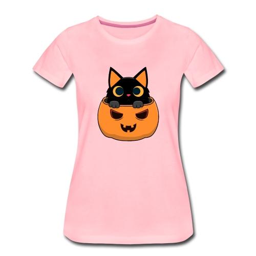 Halloween Katze Kürbis - Frauen Premium T-Shirt