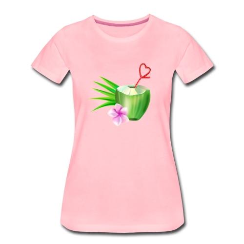 Kokosnuss - Frauen Premium T-Shirt