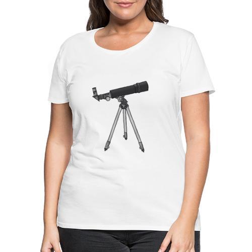Teleskop Astronomie c - Frauen Premium T-Shirt
