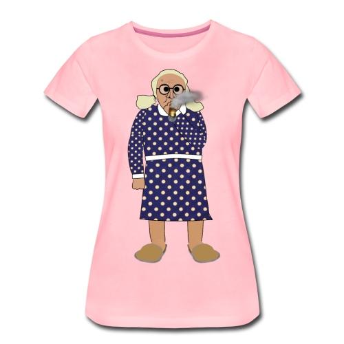 Kerstin röker png - Premium-T-shirt dam