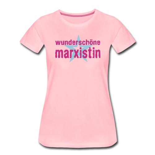 wunderschoene marxistin - Frauen Premium T-Shirt