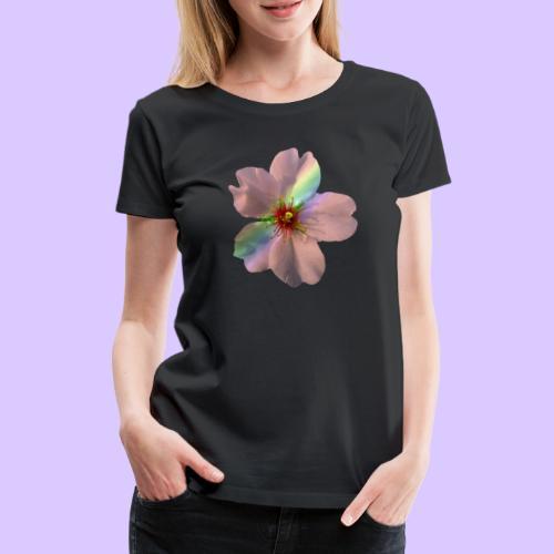 zauberhafte Blüte in coral, Regenbogen - Frauen Premium T-Shirt