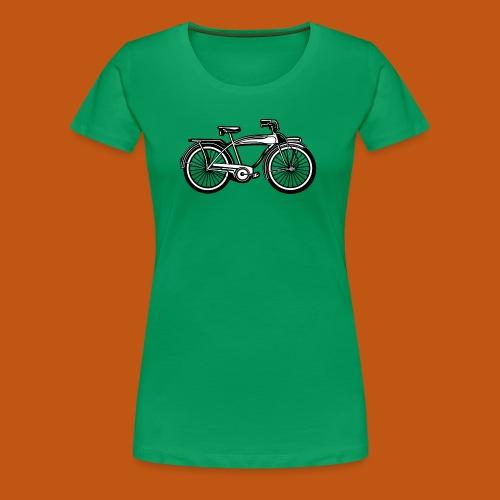 Beach Cruiser Fahrrad 01_schwarz weiß - Frauen Premium T-Shirt
