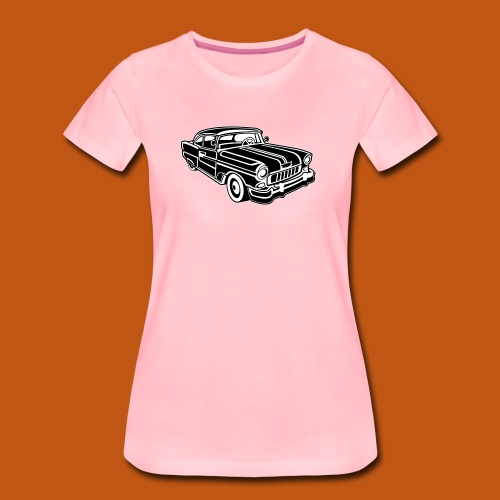 Chevy Cadilac / Muscle Car 02_schwarz weiß - Frauen Premium T-Shirt