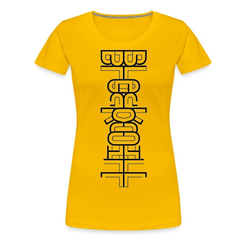 Flow vertical black - Women's Premium T-Shirt