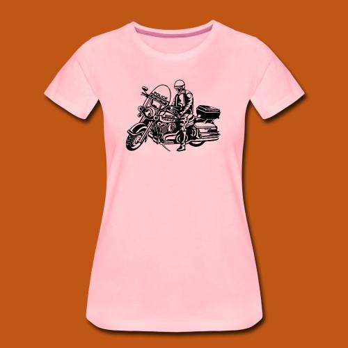 Motorradpolizei / Motorcycle Police 01_schwarz - Frauen Premium T-Shirt
