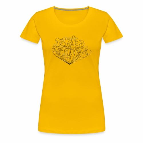 wild style ver01 Trick Aod - Dame premium T-shirt