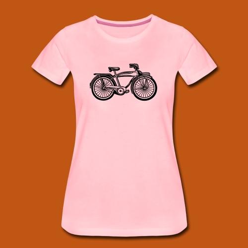 Beach Cruiser Fahrrad 01_schwarz - Frauen Premium T-Shirt