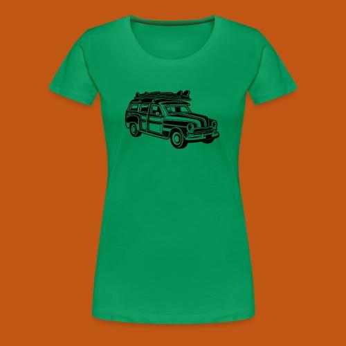 Chevy Cadilac Woodie / Oldtimer Kombi 01_schwarz - Frauen Premium T-Shirt