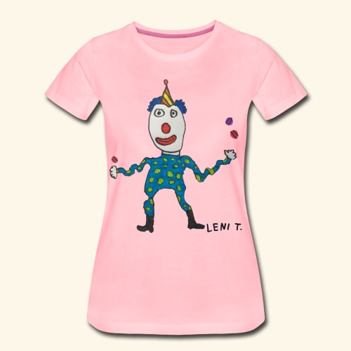 LeniT Clown - Naisten premium t-paita