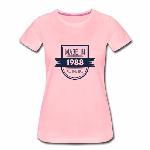 1988 blauw - Vrouwen Premium T-shirt