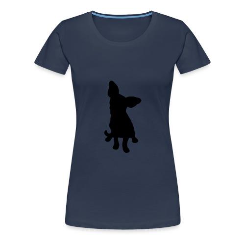 Chihuahua istuva musta - Naisten premium t-paita