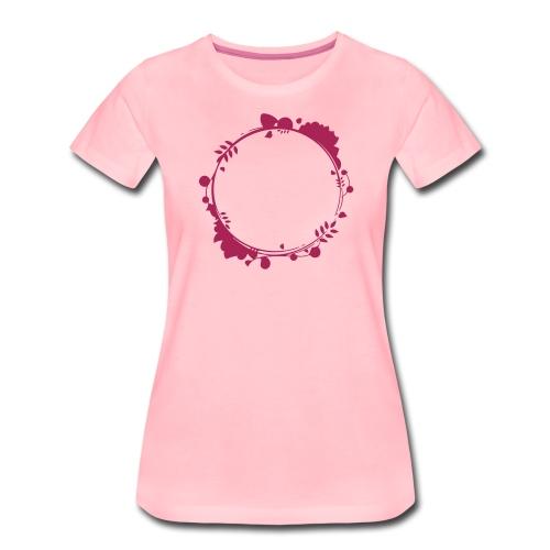 Blätter Blüten Blumen Kranz Blumenranke - Frauen Premium T-Shirt
