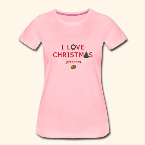 I love christmas presents - Women's Premium T-Shirt