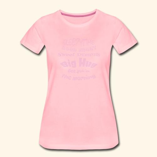SleepyTime in soft pink - Vrouwen Premium T-shirt