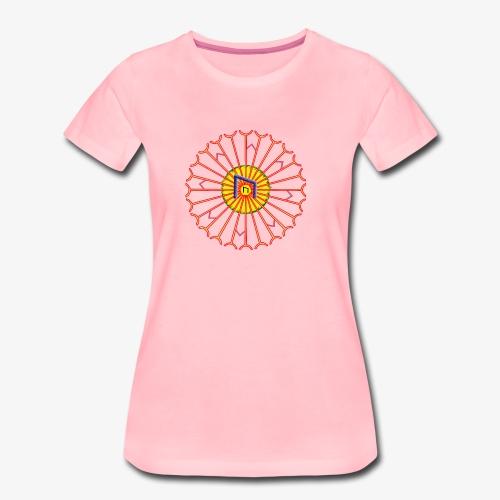 Strahlenkreis mit Rune - Frauen Premium T-Shirt