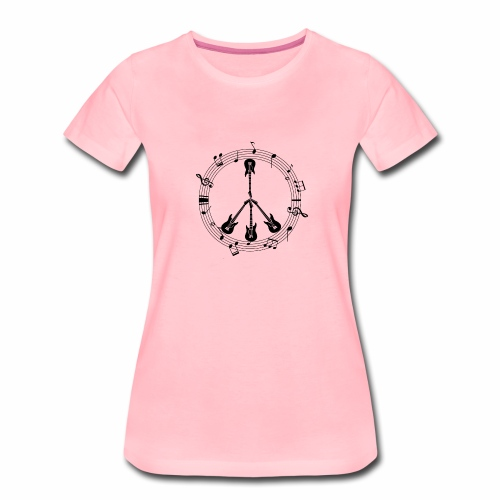 guitare peace and love - T-shirt Premium Femme