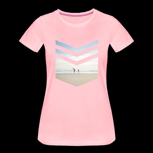 Surf Beach Triangle - Frauen Premium T-Shirt