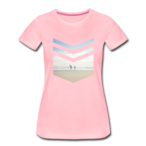 Surfing Beach - Frauen Premium T-Shirt