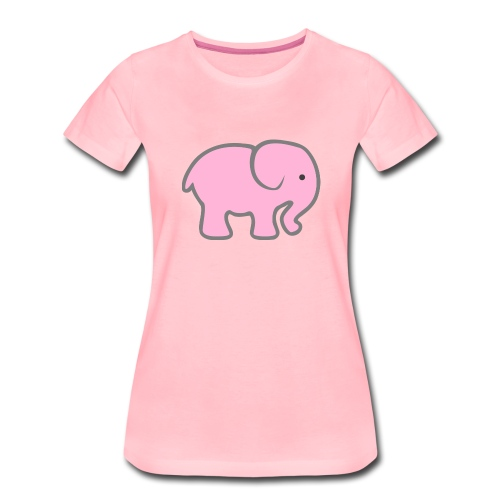 Pinker Elefant - Frauen Premium T-Shirt