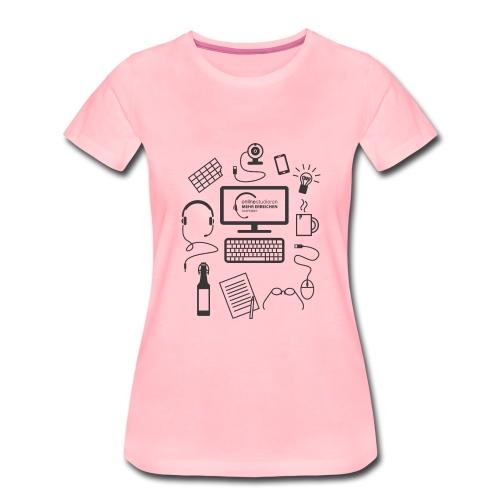 survivalKit-schw - Frauen Premium T-Shirt