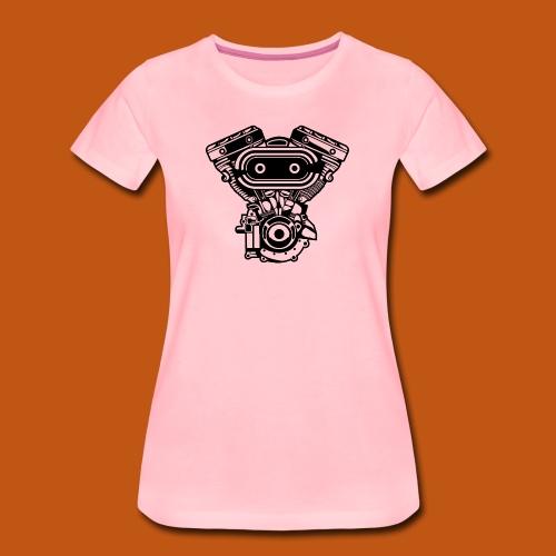 Motorrad Motor / Engine 02_schwarz - Frauen Premium T-Shirt