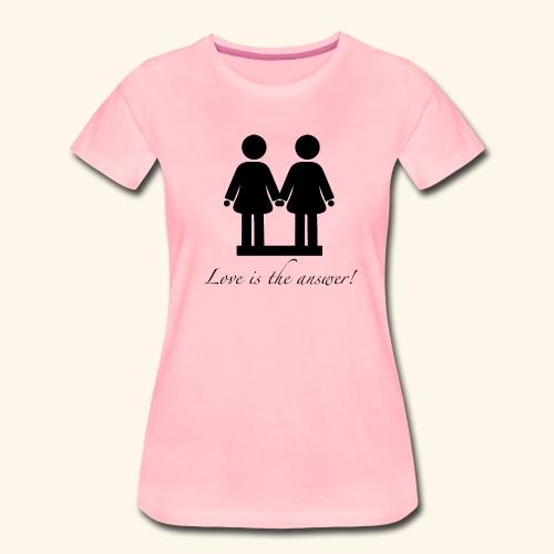 Frau liebt Frau Variante Schwarz - Frauen Premium T-Shirt