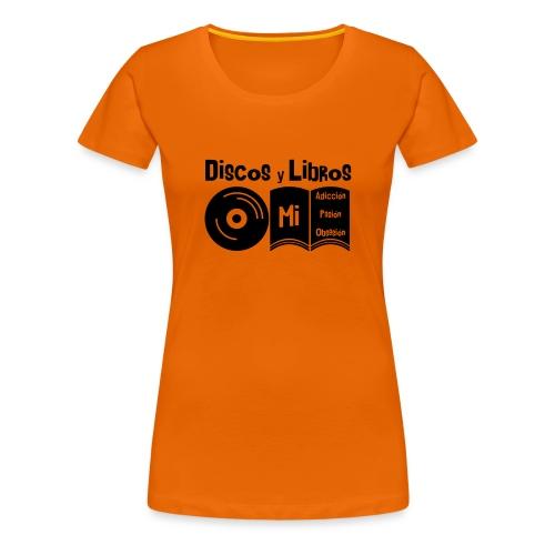 Discos y Libros - Camiseta premium mujer