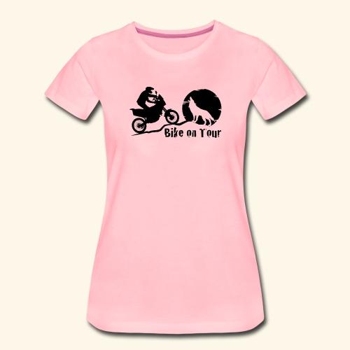 Bike on Tour Schwarz - Frauen Premium T-Shirt