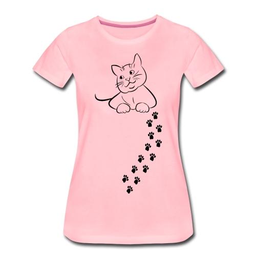 Katze Katze Katze Mieze Katze Pfoten Geschenk - Frauen Premium T-Shirt