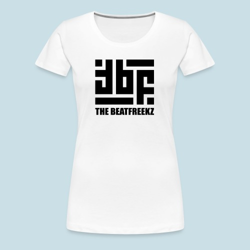 the beatfreekz logo 3 black - Women's Premium T-Shirt