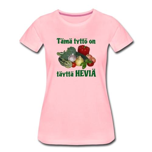 Tyttö täyttä heviä - Naisten premium t-paita