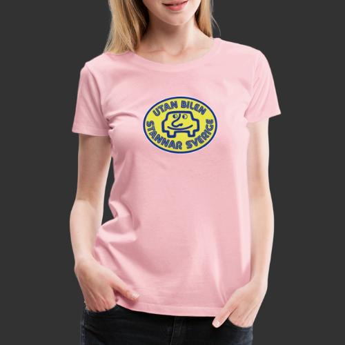 Utan bilen stannar Sverige färg - Premium-T-shirt dam