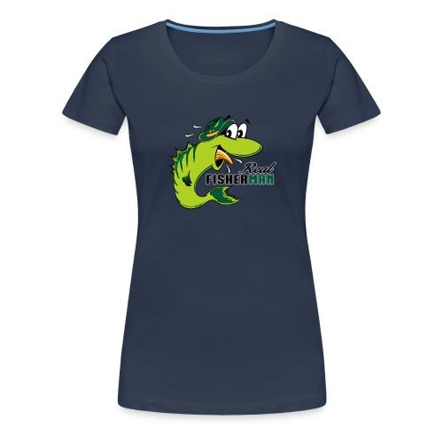 10-38 REAL FISHERMAN - TODELLINEN KALASTAJA - Naisten premium t-paita