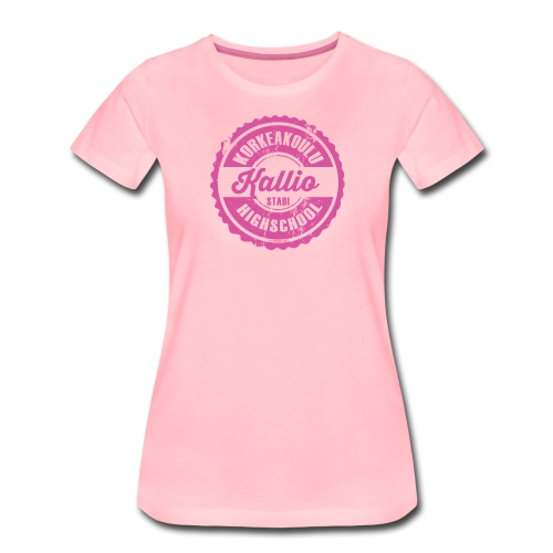 22P-KALLION KORKEAKOULU - Tekstiilit ja lahjat - Naisten premium t-paita